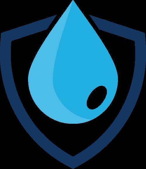盾形水滴水资源环境保护logo图标素材