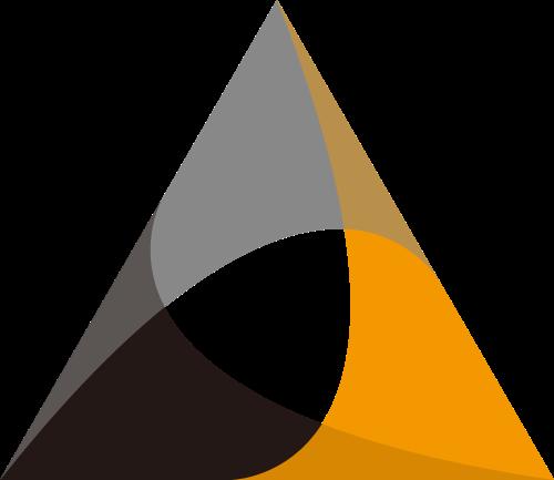 三角形叠加合作商务logo图标素材