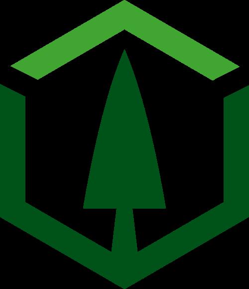 六边形植物树木环保logo图标素材