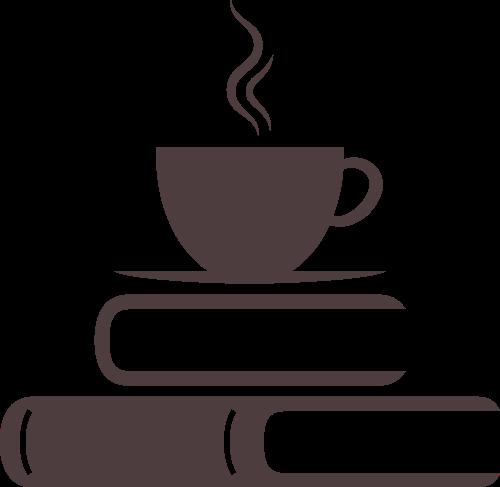 书本咖啡书店旅游休闲logo图标素材