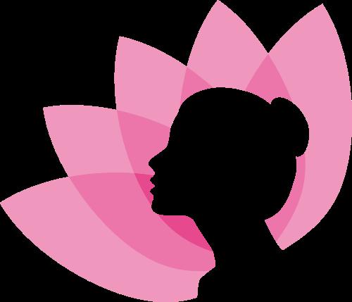 花瓣女性美容养生健康矢量图标素材