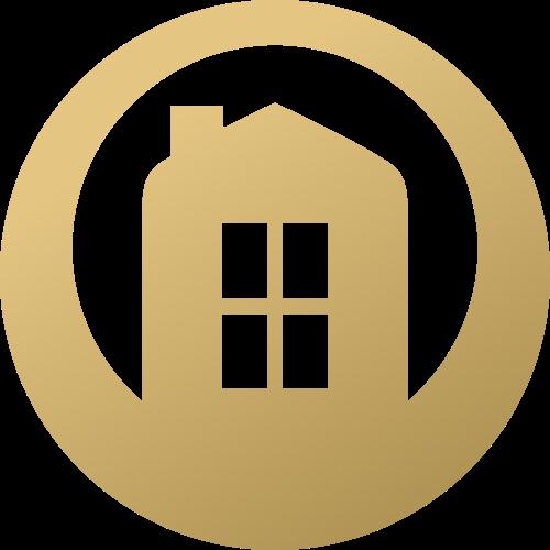 圆形渐变房屋房地产家政logo图标素材