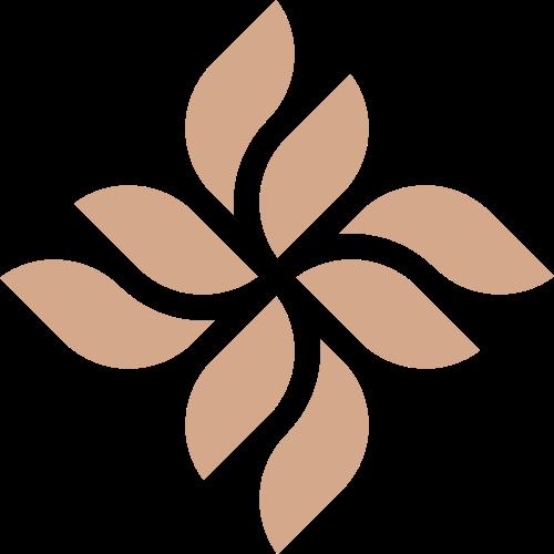菱形花瓣植物花店logo图标素材