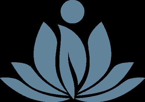 莲花叶子养生健康女性瑜伽矢量图标素材