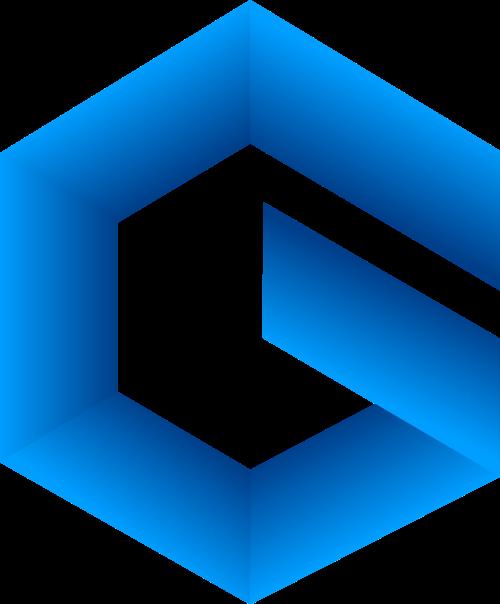 渐变六边形字母G科技互联网logo图标素材