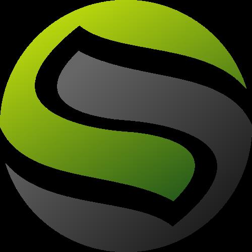 绿色灰色渐变环保抽象字母Slogo图标素材