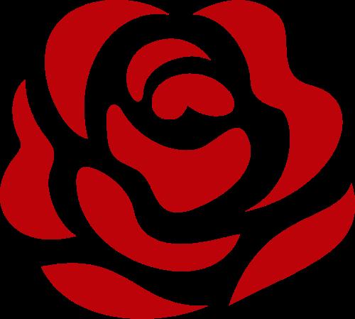 块状玫瑰花花卉花朵花店矢量图标素材