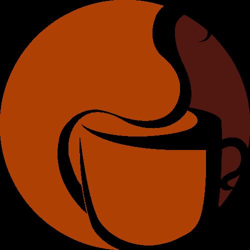 圆形咖啡休闲饮品矢量图标素材