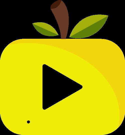 卡通水果梨视频播放器影视传媒logo图标素材