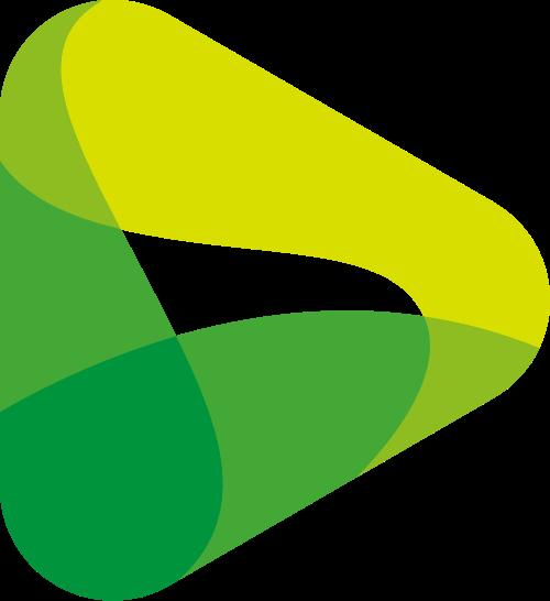 流水状视频播放器影视传媒logo图标素材