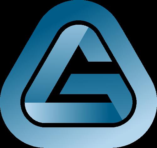 圆角三角渐变字母G矢量图标素材