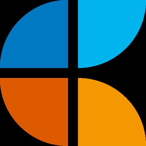 彩色不规则商务合作咨询科技矢量图标素材