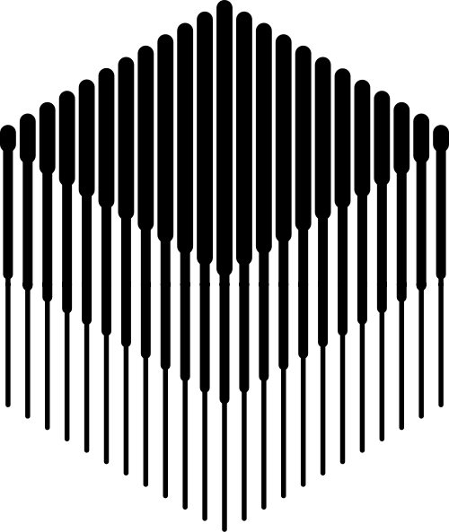 简约艺术立体渐变粗细线条六边形logo图标素材