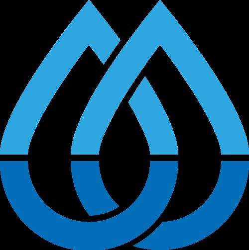 双水滴环扣环境资源保护logo图标素材