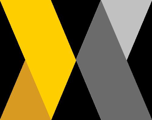 抽象长方体折叠X字母商务合作咨询矢量图标素材