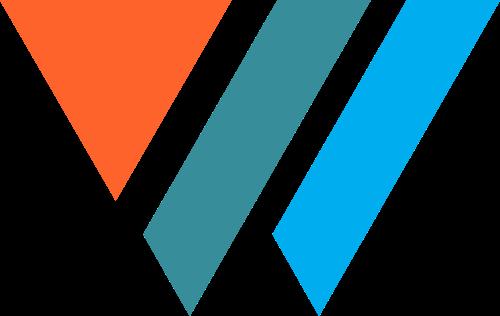 三色抽象W字母商务咨询合作矢量图标素材