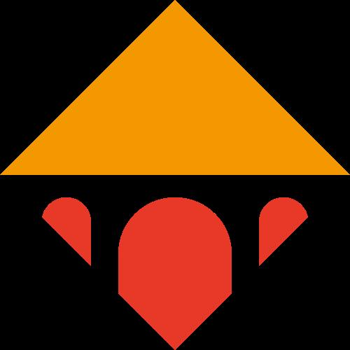 三角形抽象商务合作金字塔休闲旅游logo图标素材