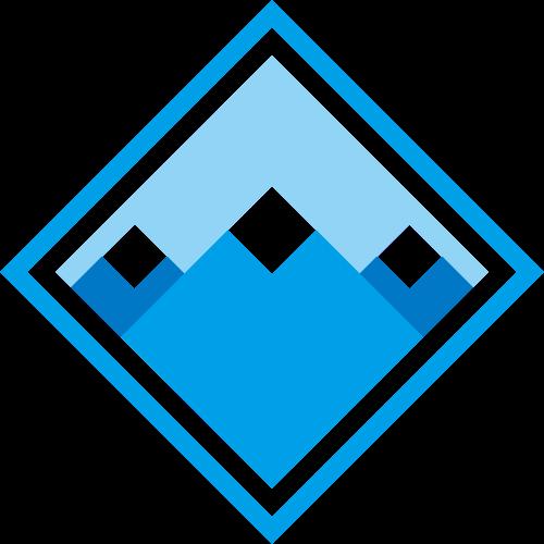 菱形画框艺术设计山川风景休闲旅游logo图标素材