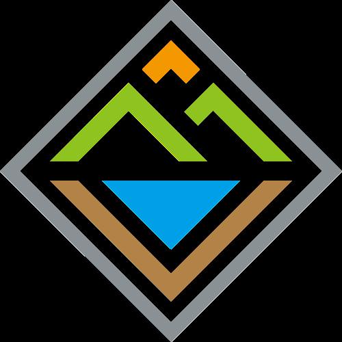 菱形相框有机农业山水田园休闲娱乐logo图标素材