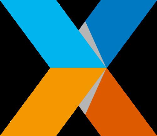 立体X字母科技互联网商务咨询合作logo图标素材
