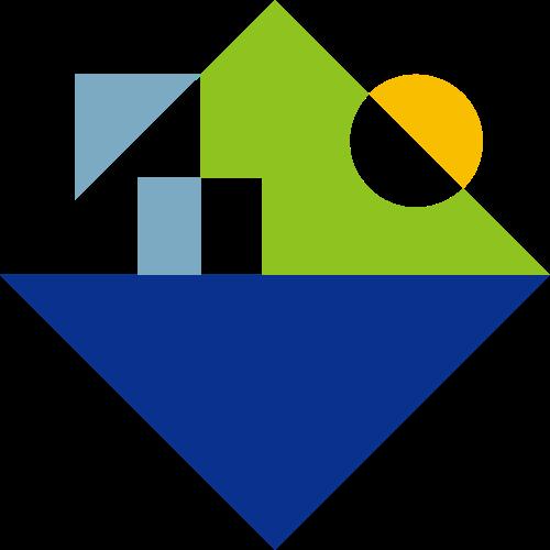 太阳建筑物房地产休闲度假旅游logo图标素材