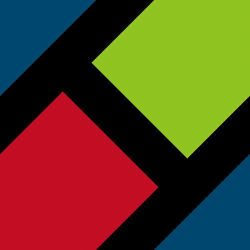 三色多边形商务咨询合作logo图标素材