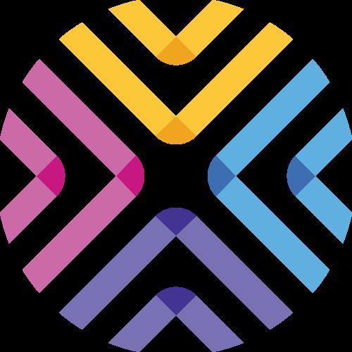 彩色线条圆形学校教育互联网文化传媒logo图标素材