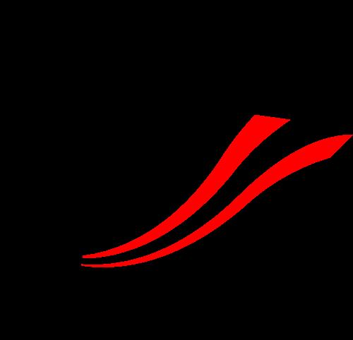 渐变星星彩带销售业绩logo图标素材