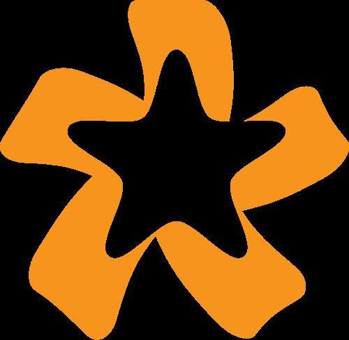 彩带五角星艺术文化传媒logo图标素材