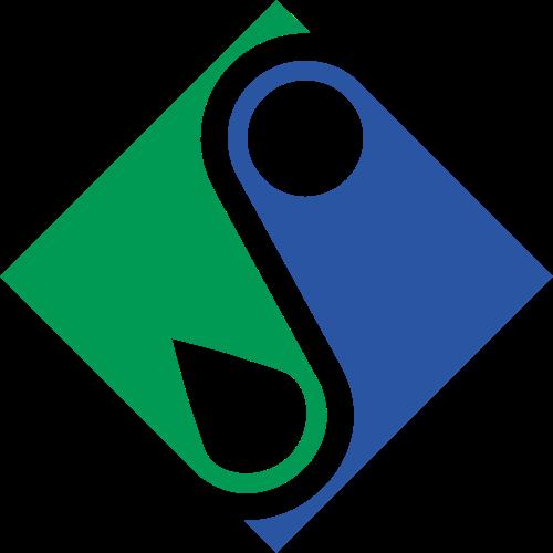 双色正方形拼接商务合作矢量图标素材