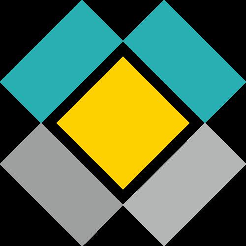 抽象盒子快递物流运输矢量图标素材
