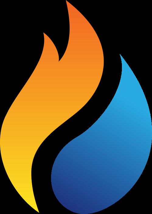渐变火焰汽车汽油能源化工矢量图标素材