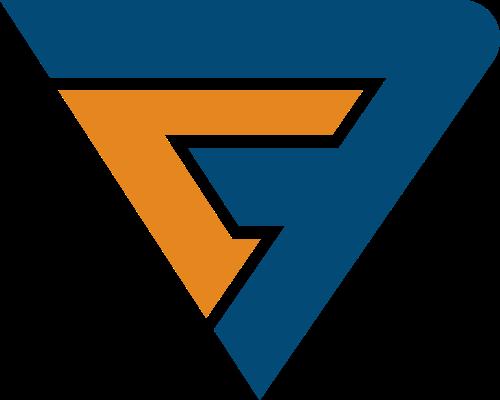 不规则组合三角形金融财务信贷logo图标素材