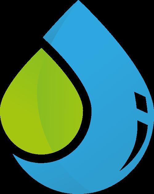 大小水滴生态环境保护矢量图标素材