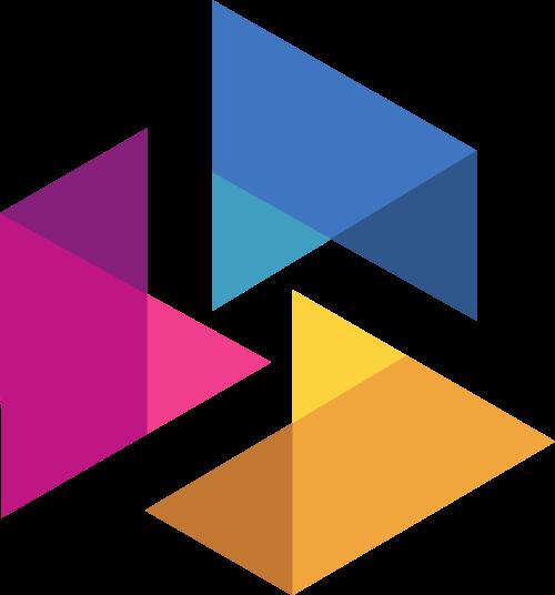 立体翻折图形艺术文化传媒logo图标素材