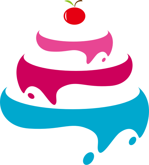 生日蛋糕甜品图标素材矢量logo