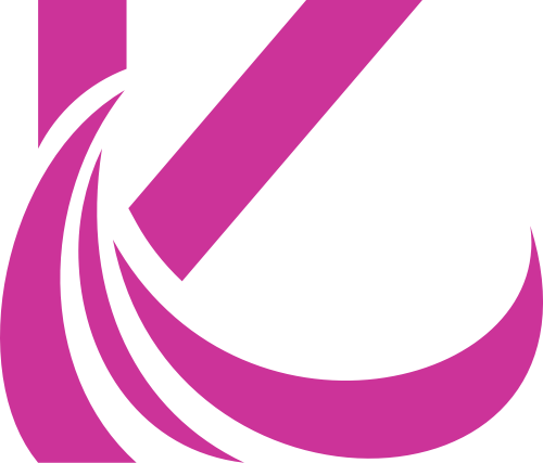 动感紫色字母K图标素材矢量logo