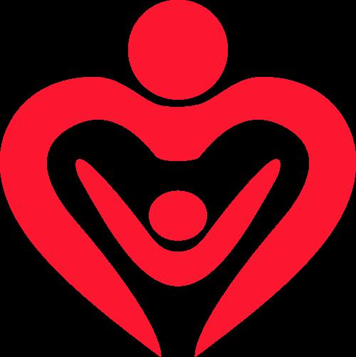 母婴亲子爱心矢量logo
