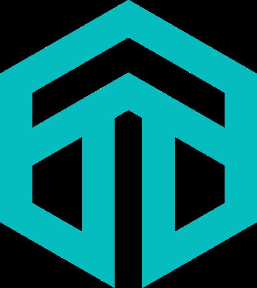箭头字母T六边形图标素材矢量logo