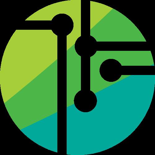 绿色高科技电子器材图标素材矢量logo