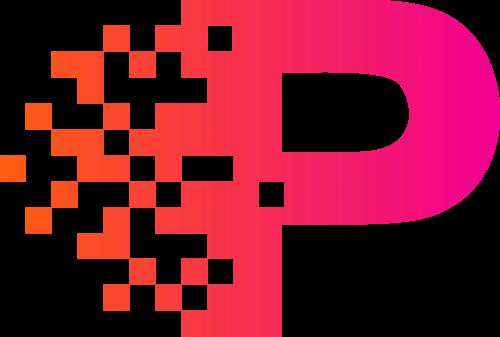 数码科技互联网字母P图标素材矢量logo