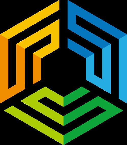 科技互联网六边形图标素材矢量logo