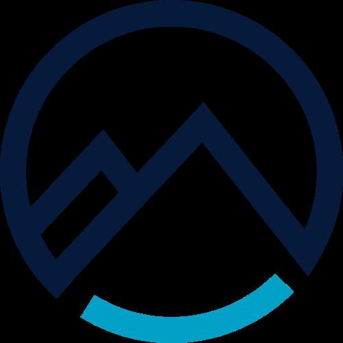 冰山环境保护旅行徽章矢量logo