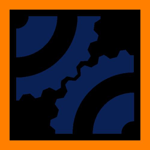制造业工业齿轮工厂轴承矢量logo
