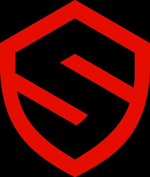 字母S盾牌安全防护保密logo