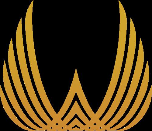 金色翅膀金融房产航空证券矢量logo