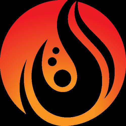 红色火焰热情创意图标素材矢量logo