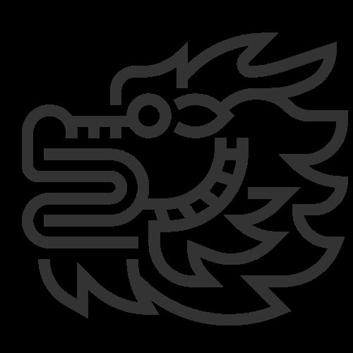 线条侧面龙头logo素材图片