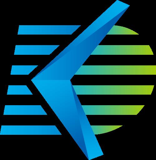抽象动感飞机箭头logo素材