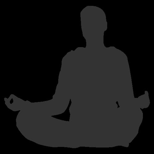 瑜伽打坐矢量logo图标素材